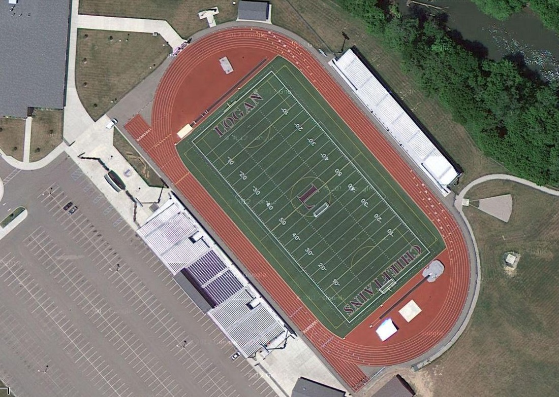 Aerial of Logan Chieftain Stadium